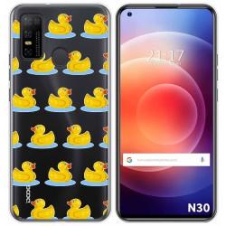 Funda Gel Transparente para Doogee N30 diseño Pato Dibujos