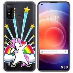 Funda Gel Transparente para Doogee N30 diseño Unicornio Dibujos