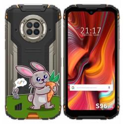 Funda Gel Transparente para Doogee S96 Pro diseño Conejo Dibujos