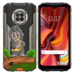 Funda Gel Transparente para Doogee S96 Pro diseño Mono Dibujos