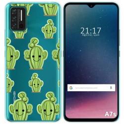 Funda Gel Transparente para Umidigi A7S diseño Cactus Dibujos