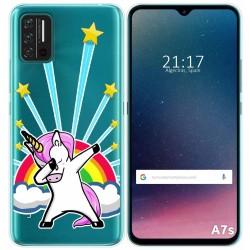 Funda Gel Transparente para Umidigi A7S diseño Unicornio Dibujos