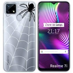 Funda Gel Transparente para Realme 7i diseño Araña Dibujos
