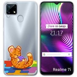 Funda Gel Transparente para Realme 7i diseño Leopardo Dibujos