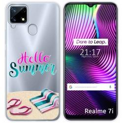 Funda Gel Transparente para Realme 7i diseño Summer Dibujos