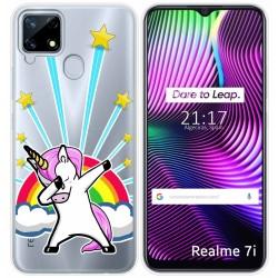 Funda Gel Transparente para Realme 7i diseño Unicornio Dibujos