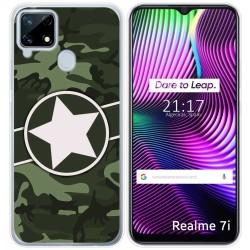 Funda Gel Tpu para Realme 7i diseño Camuflaje 01 Dibujos