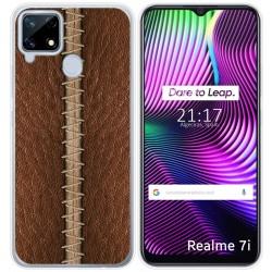 Funda Gel Tpu para Realme 7i diseño Cuero 01 Dibujos