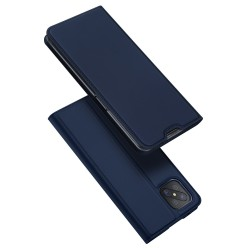 Funda Piel Soporte Magnética Dux Ducis para Oppo Reno 4Z 5G color Azul