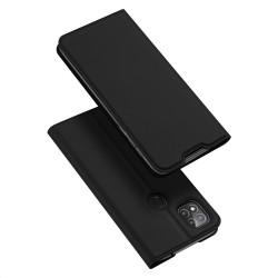 Funda Piel Soporte Magnética Dux Ducis para Xiaomi Redmi 9C color Negra