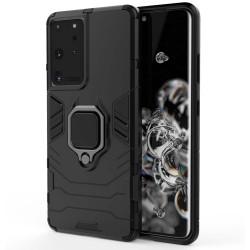 Funda Tough Armor con Anillo Giratorio Negra para Samsung Galaxy S21 Ultra 5G