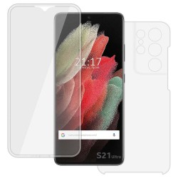 Funda Completa Transparente Pc + Tpu Full Body 360 para Samsung Galaxy S21 Ultra 5G