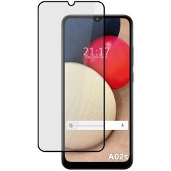 Protector Cristal Templado Completo 5D Full Glue Negro para Samsung Galaxy A02s Vidrio