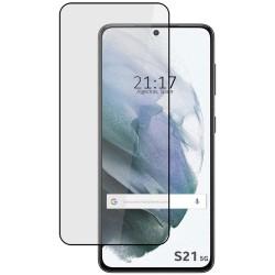 Protector Cristal Templado Completo 5D Full Glue Negro para Samsung Galaxy S21 Vidrio