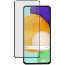 Protector Cristal Templado Completo 5D Full Glue Negro para Samsung Galaxy A52 / A52 5G Vidrio