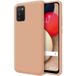 Funda Silicona Líquida Ultra Suave para Samsung Galaxy A02s color Rosa