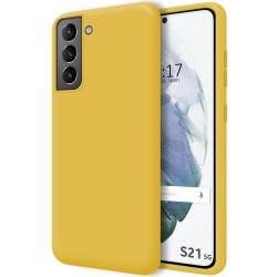 Funda Silicona Líquida Ultra Suave para Samsung Galaxy S21 5G color Amarilla