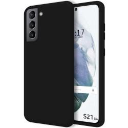 Funda Silicona Líquida Ultra Suave para Samsung Galaxy S21 5G color Negra