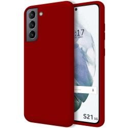 Funda Silicona Líquida Ultra Suave para Samsung Galaxy S21 5G color Roja