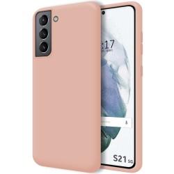 Funda Silicona Líquida Ultra Suave para Samsung Galaxy S21 5G color Rosa