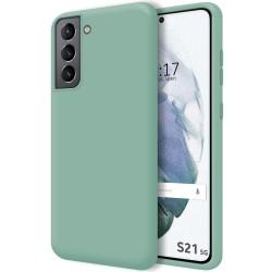 Funda Silicona Líquida Ultra Suave para Samsung Galaxy S21 5G color Verde