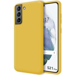 Funda Silicona Líquida Ultra Suave para Samsung Galaxy S21+ Plus 5G color Amarilla