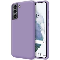 Funda Silicona Líquida Ultra Suave para Samsung Galaxy S21+ Plus 5G color Morada