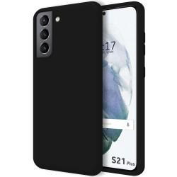 Funda Silicona Líquida Ultra Suave para Samsung Galaxy S21+ Plus 5G color Negra