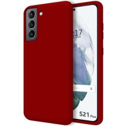 Funda Silicona Líquida Ultra Suave para Samsung Galaxy S21+ Plus 5G color Roja