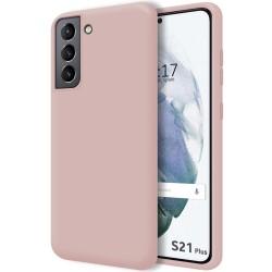 Funda Silicona Líquida Ultra Suave para Samsung Galaxy S21+ Plus 5G color Rosa
