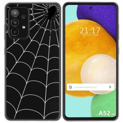 Funda Gel Transparente para Samsung Galaxy A52 / A52 5G diseño Araña Dibujos