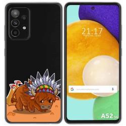 Funda Gel Transparente para Samsung Galaxy A52 / A52 5G diseño Bufalo Dibujos