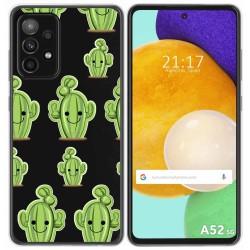 Funda Gel Transparente para Samsung Galaxy A52 / A52 5G diseño Cactus Dibujos
