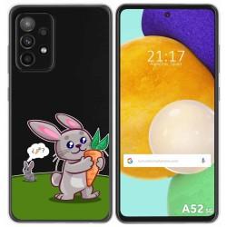 Funda Gel Transparente para Samsung Galaxy A52 / A52 5G diseño Conejo Dibujos