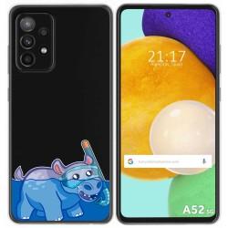 Funda Gel Transparente para Samsung Galaxy A52 / A52 5G diseño Hipo Dibujos