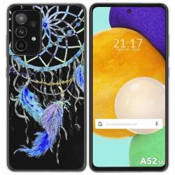 Funda Gel Transparente para Samsung Galaxy A52 / A52 5G diseño Plumas Dibujos