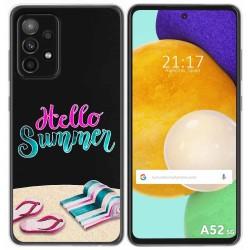 Funda Gel Transparente para Samsung Galaxy A52 / A52 5G diseño Summer Dibujos