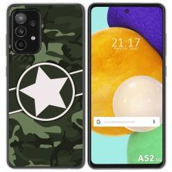 Funda Gel Tpu para Samsung Galaxy A52 / A52 5G diseño Camuflaje 01 Dibujos