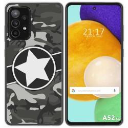 Funda Gel Tpu para Samsung Galaxy A52 / A52 5G diseño Camuflaje 02 Dibujos