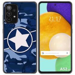 Funda Gel Tpu para Samsung Galaxy A52 / A52 5G diseño Camuflaje 03 Dibujos