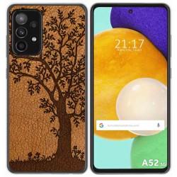 Funda Gel Tpu para Samsung Galaxy A52 / A52 5G diseño Cuero 03 Dibujos