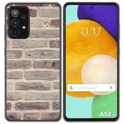 Funda Gel Tpu para Samsung Galaxy A52 / A52 5G diseño Ladrillo 01 Dibujos