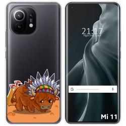 Funda Gel Transparente para Xiaomi Mi 11 / Mi 11 Pro diseño Bufalo Dibujos