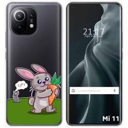 Funda Gel Transparente para Xiaomi Mi 11 / Mi 11 Pro diseño Conejo Dibujos