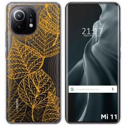 Funda Gel Transparente para Xiaomi Mi 11 / Mi 11 Pro diseño Hojas Dibujos