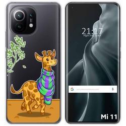 Funda Gel Transparente para Xiaomi Mi 11 / Mi 11 Pro diseño Jirafa Dibujos