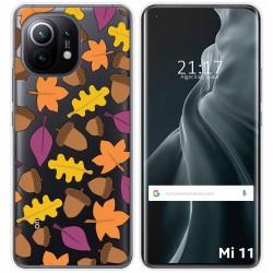 Funda Gel Transparente para Xiaomi Mi 11 / Mi 11 Pro diseño Otoño Dibujos