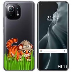 Funda Gel Transparente para Xiaomi Mi 11 / Mi 11 Pro diseño Tigre Dibujos