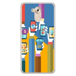 Funda Gel Tpu para Huawei Honor 6C / Nova Smart Diseño Apps Dibujos