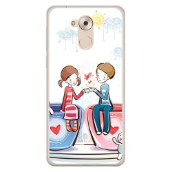 Funda Gel Tpu para Huawei Honor 6C / Nova Smart Diseño Cafe Dibujos